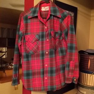 Vintage Pendleton Mills plaid shirt